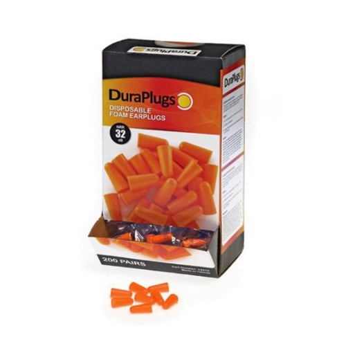 Image of Duraplugs box of disposable super soft cordless foam ear plugs