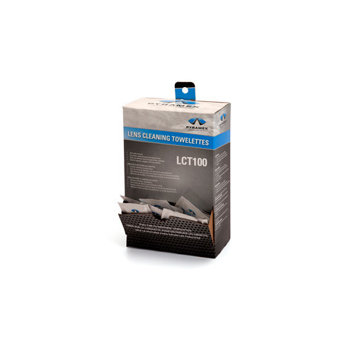 Photo of an open box of lens cleaning towelettes