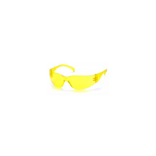 Pyramex intruder amber lens with amber temples safety glasses sold by Gloves Plus Inc.