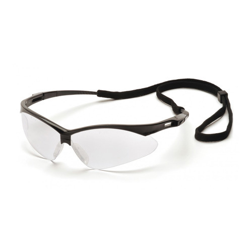 Pyramex PMXTREME clear lens safety glasses with cord