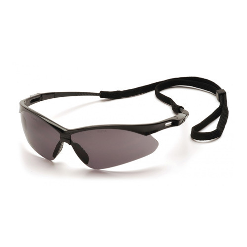 Photo of Pyramex PMXTREME gray lens safety glasses with cord sold by Gloves Plus Inc.
