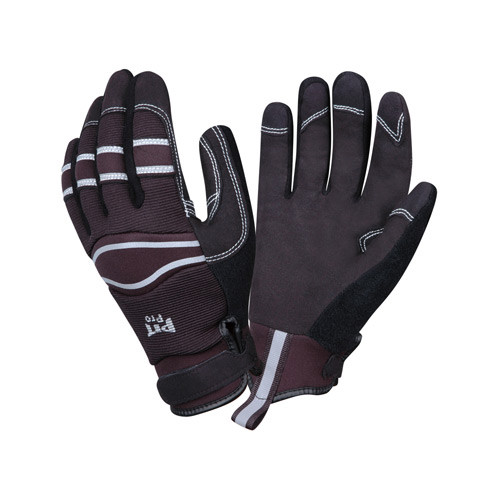 Black Synthetic leather gloves sold by Gloves Plus Inc