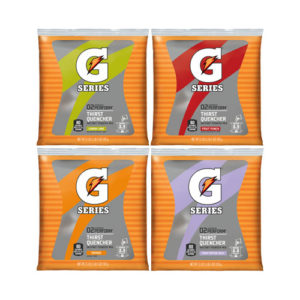 Image of a Gatorade G Series pouch of powder in various flavors