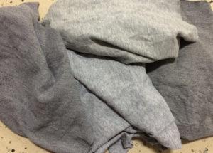gray fleece rags