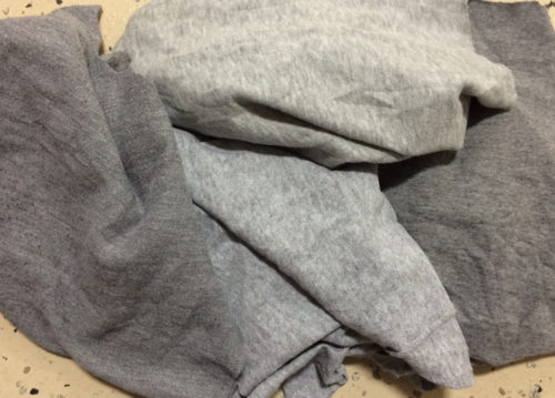 gray fleece rags