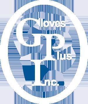 Gloves Plus, Inc. Retina Logo