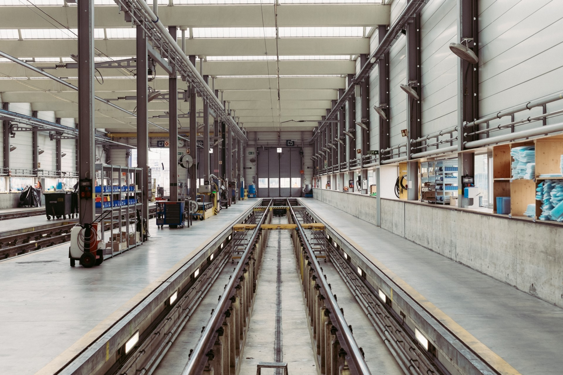 Spacious and clean warehouse