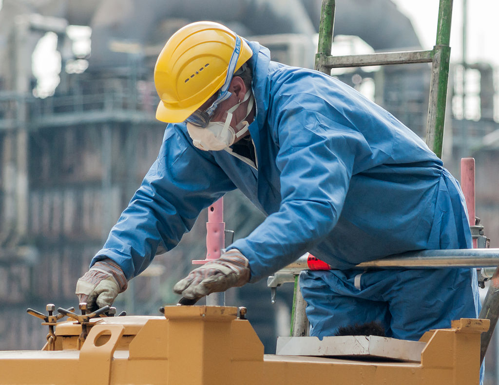 Construction Worker wearing PPE